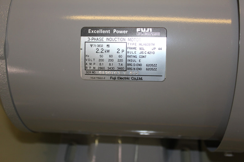 3-PHASE INDUCTION MOTOR FUJI ELECTRIC
