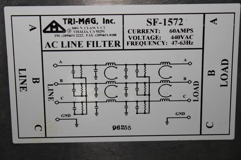 AC LINE FILTER 60AMPS 440VAC 47-63Hz